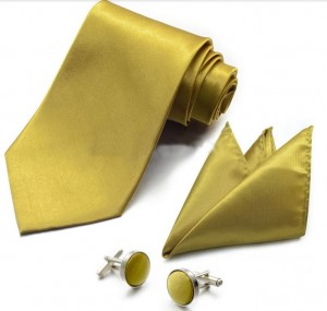 Набор для жениха золотой
