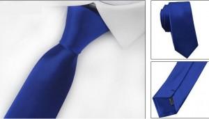Галстук для жениха синий