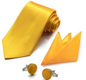 Набор для жениха желтый