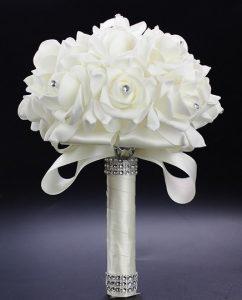 Свадебный букет-дублер латексный айвори