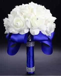 Свадебный букет-дублер синий латексный