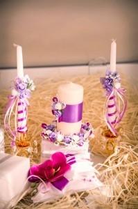 Свадебный набор в сиреневых тонах