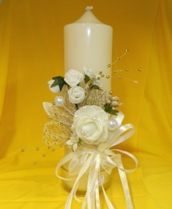 Свеча свадебная для семейного очага или украшения свадебного стола