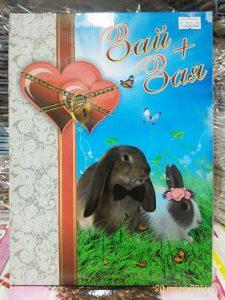 обложка на свидетельство о браке зай+зая