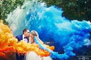 цветной дым синий