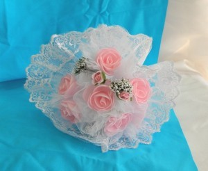 свадебный букет-дублер розовый