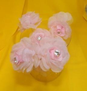 Шпильки для свадебной прически с розовым цветком