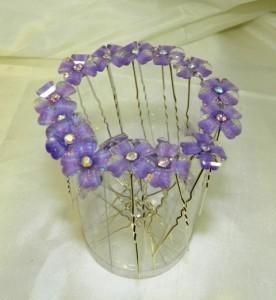 Шпильки с сиреневыми цветочками