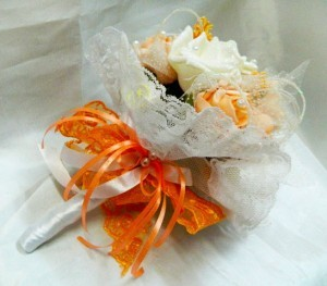 Букет дублер персиковый шампань