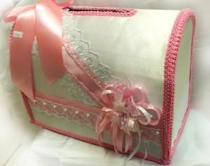 Семейный банк для сбора конвертов розовый