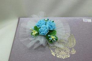 Браслет на руку подружки невесты голубой