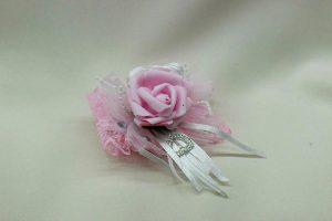 Браслет на руку подружки невесты розовый