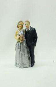 Фигурка на свадебный торт 25 лет серебрянная свадьба
