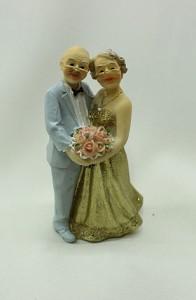 Фигурка на свадебный торт 50 лет золотая свадьба