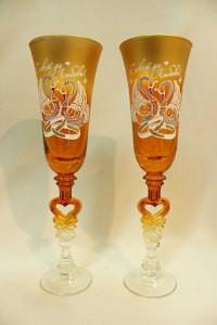 Свадебные бокалы оранжевые