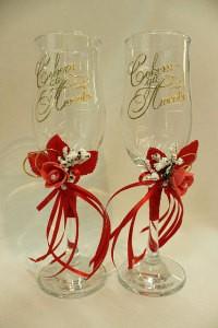 Свадебные бокалы красные