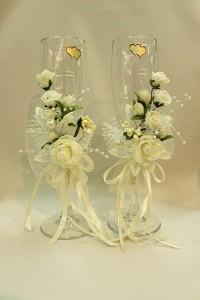 Свадебные бокалы айвори шампань