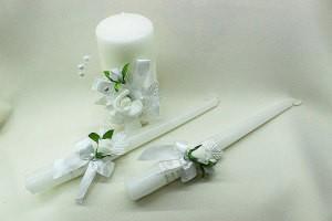 Семейный очаг, свадебные свечи белые