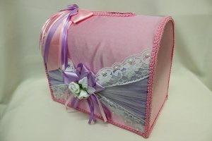 Семейный банк, коробка для сбора денег розовый с сиреневым