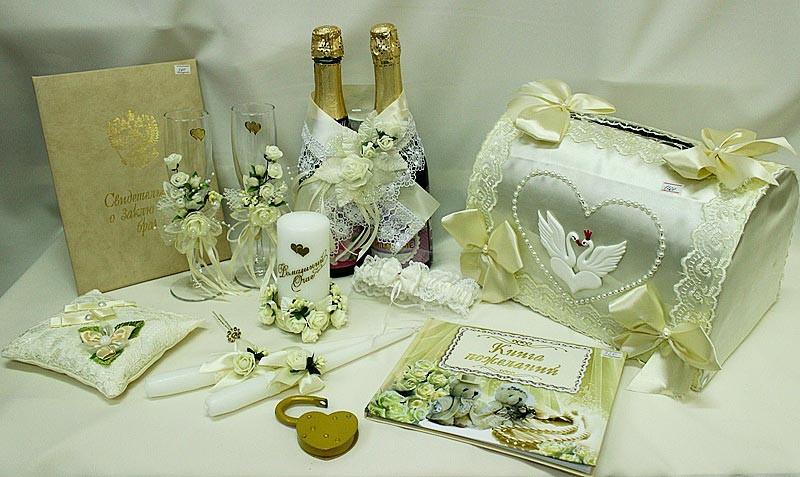 Набор свадебный белый айвори