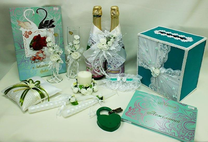 Набор свадебный зеленый