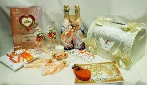 Набор свадебный персиковый оранжевый