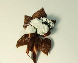 Бутоньерка для жениха и свидетеля шоколад