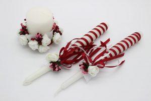 Семейный очаг красный свадебные свечи