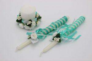 Семейный очаг мятный свадебные свечи