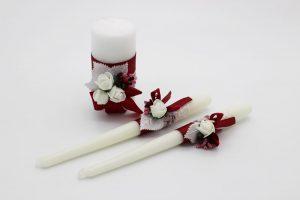 Семейный очаг бордовый свадебные свечи