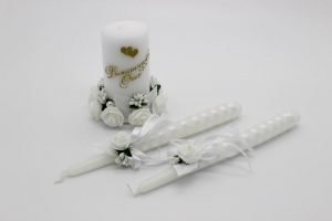 Семейный очаг белый свадебные свечи