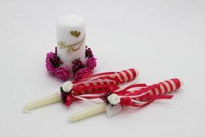 Семейный очаг фуксия свадебные свечи