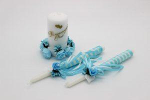 Семейный очаг голубой свадебные свечи