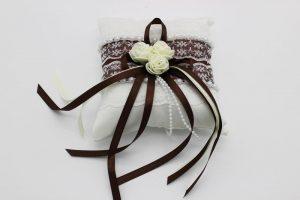 Подушечка для колец шоколадный цвет