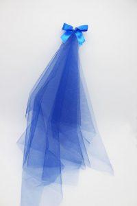 Фата подружки невесты на девичник синий цвет