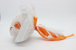 Букет дублер для невесты оранжевый