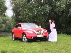 Прокат свадебного автомобиля красного