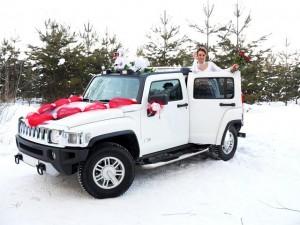 Свадебный автомобиль белый Hummer H3