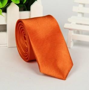 Галстук для жениха оранжевый