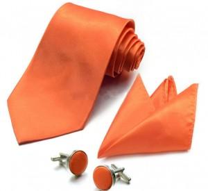 Набор для жениха оранжевый