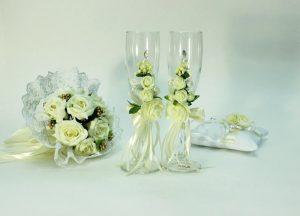 Бокалы-свадебные-айвори