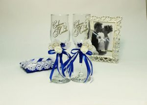 Бокалы-свадебные-синие-2