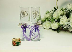 Бокалы-свадебные-сиреневые-2