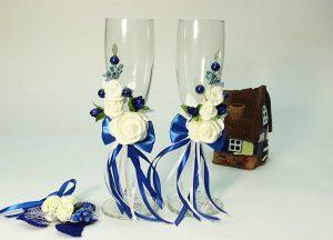 Бокалы-синие