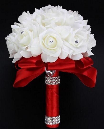 Свадебный букет-дублер красный латексный Новосибирск