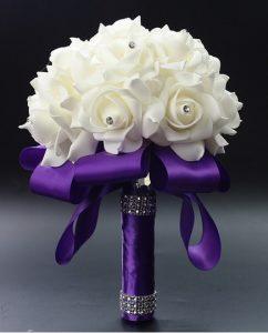 Свадебный букет-дублер сиреневый латексный