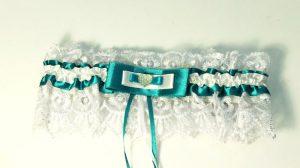 Подвязка-невесты-бирюзовая