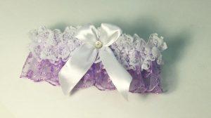 Подвязка-невесты-сиреневая
