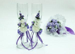 Свадебные-бокалы-сиреневые