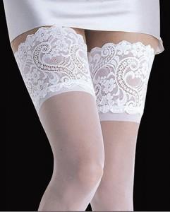 Колготки белые на свадьбу